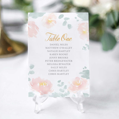wedding seating chart cards