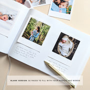 Personalised - White and Gold Foil Luxury Baby Memory Book