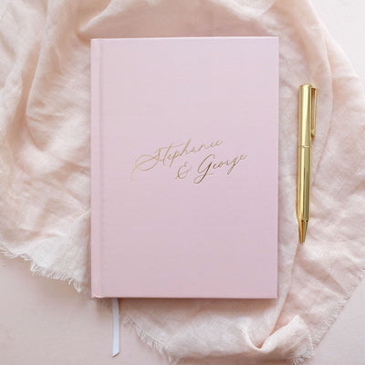 Personalised - Blush and Gold Foil Luxury Wedding Planner