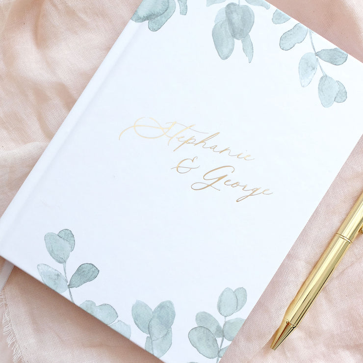Personalised - Eucalyptus and Gold Foil Luxury Wedding Planner