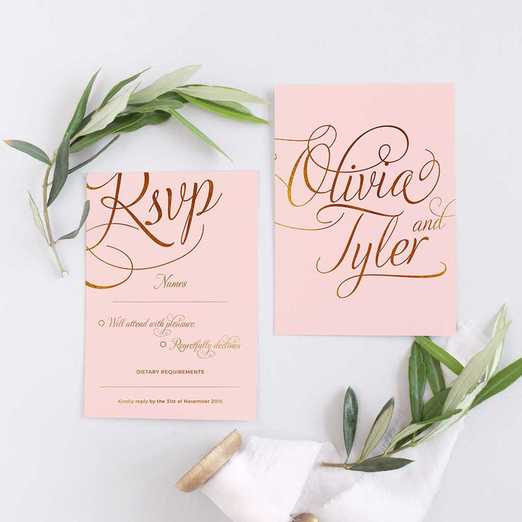 pink Rsvp for wedding