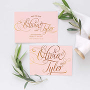 calligraphy font save the date