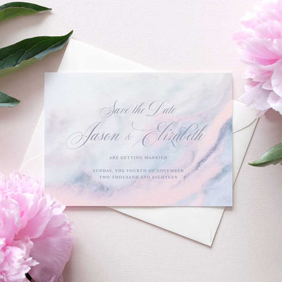 marble save the date