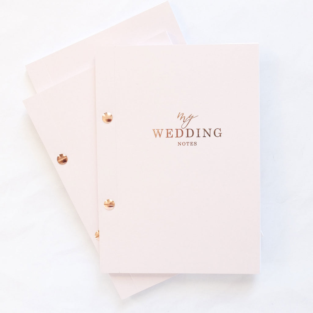 luxury wedding notebook