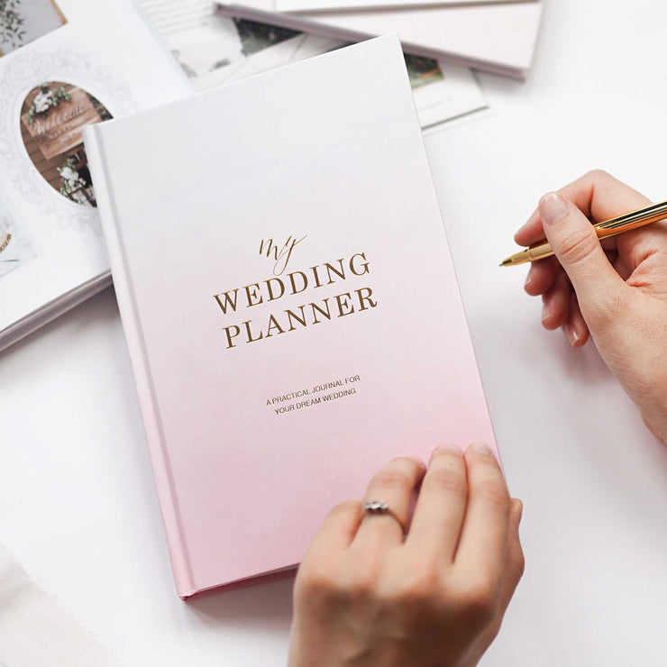 Luxury Ombre Wedding planner book