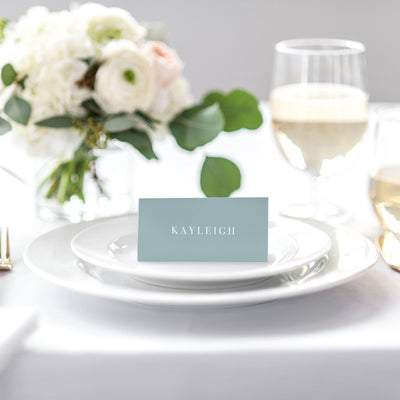 'Dusty Blue' Place Cards