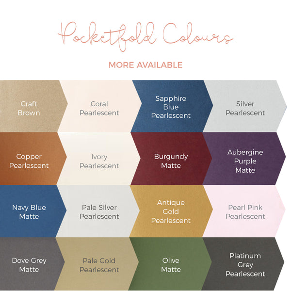 pocketfold colour options for wedding invitations