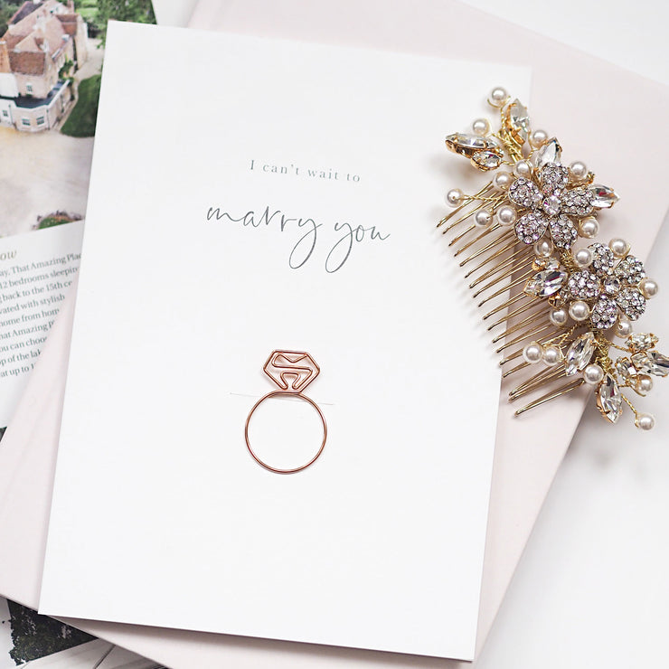 Wedding and engagement love card (Ring) - I can't wait to marry you!