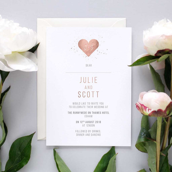 minimalist wedding invite