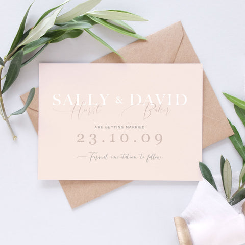 clean and simple save the date