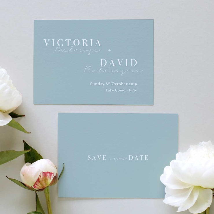 'Dusty Blue' Save the Date