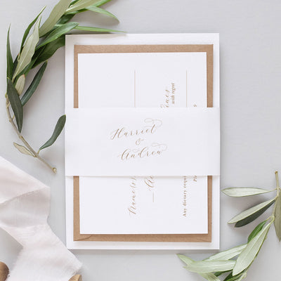 'Valentina' Classic Wedding Invitation Package