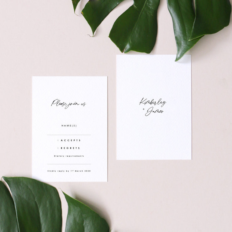 simple wedding rsvp
