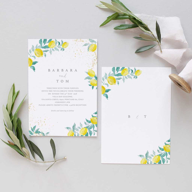 amalfi Italian wedding invite