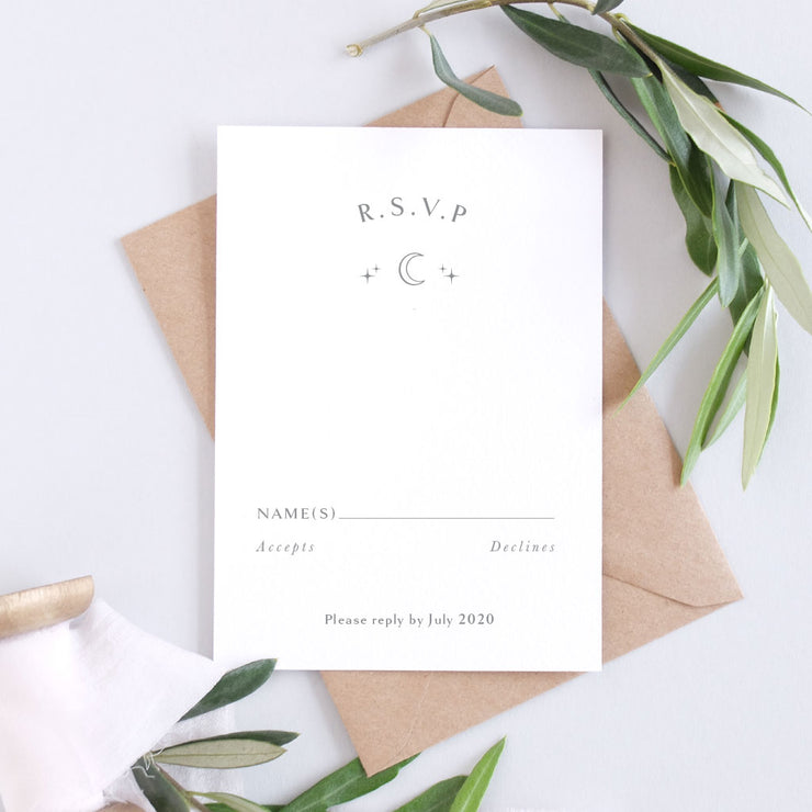 'Starry' Classic Wedding Invitation Package