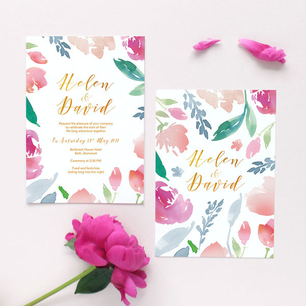 summer wedding invitation package