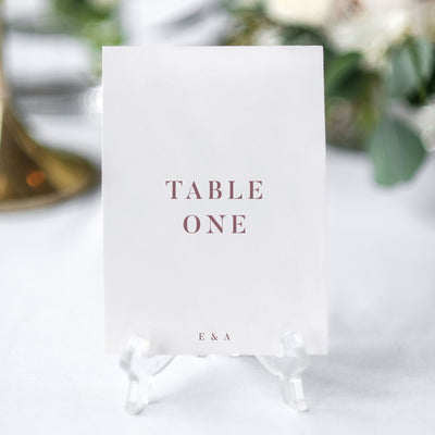 simple modern table number