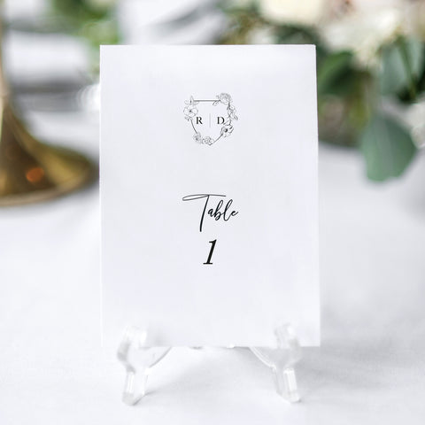 'Mayfair' Table Numbers