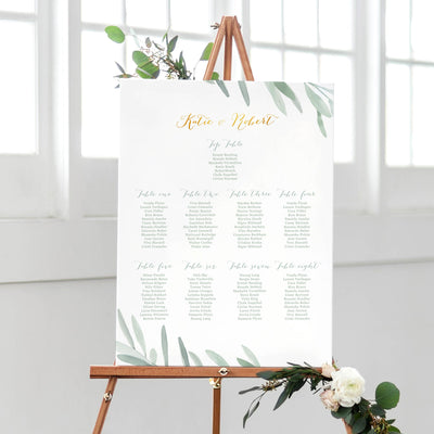 botanical table plan