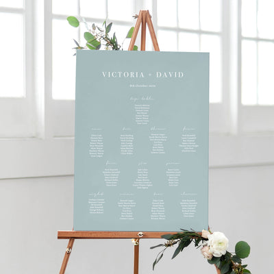 'Dusty Blue' Table Plan