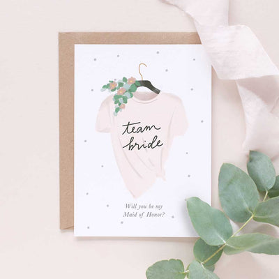 Team Bride (Maid of Honour) - Happily Ever After Congratulations Card