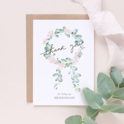 Thank you for being my bridesmaid - Happily Ever After Congratulations Card