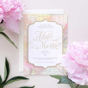 travel wedding invitation