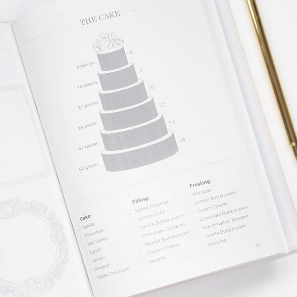Light Blush With Rose Gold Foil Luxury Wedding planner book