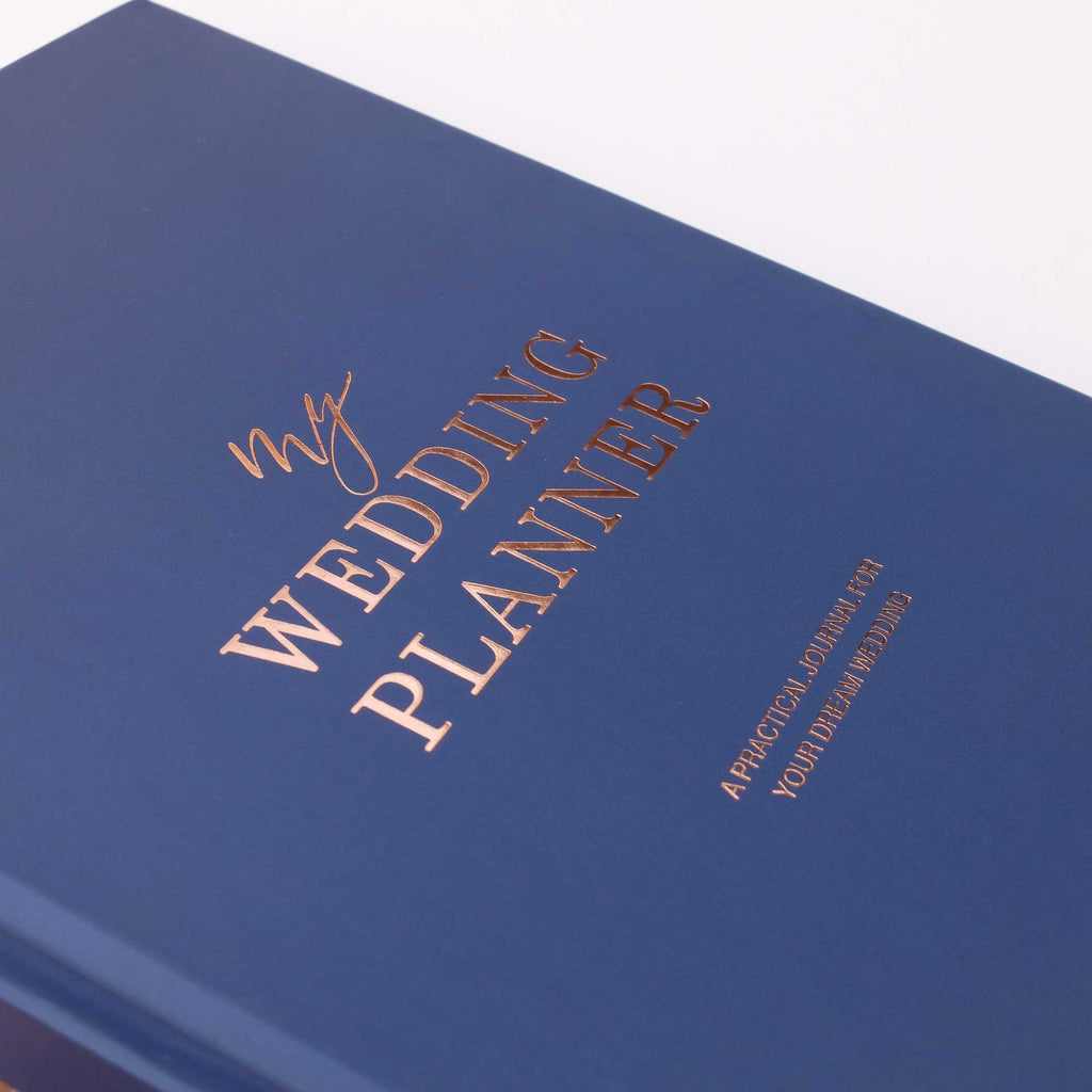 NEW! Navy and Rose Gold Luxury Wedding planner book