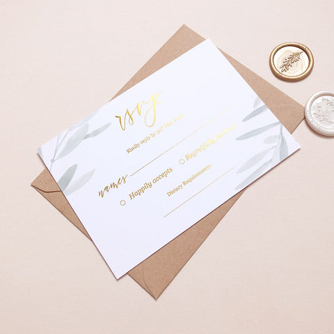 Olive RSVP Cards - The Luxe Collection Foil
