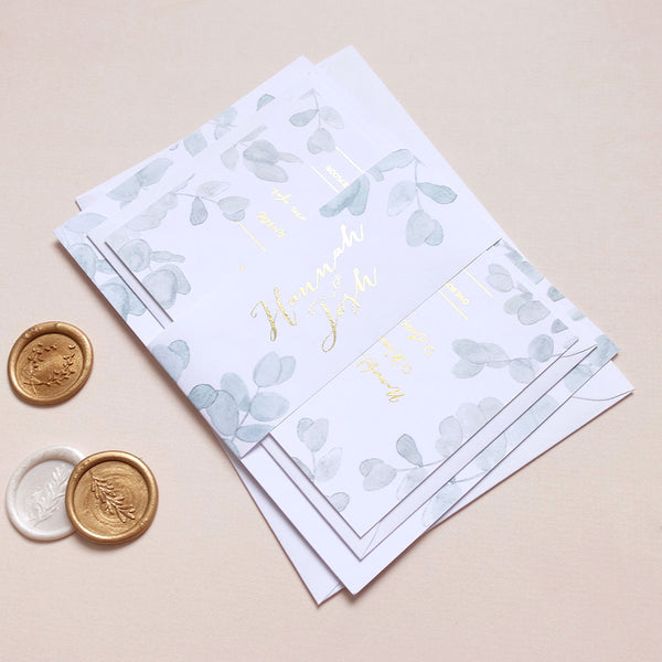 Eucalyptus Classic Invitation Package - The Luxe Collection Foil