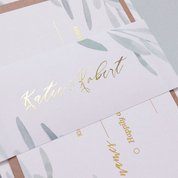Olive Classic Invitation Package - The Luxe Collection Foil