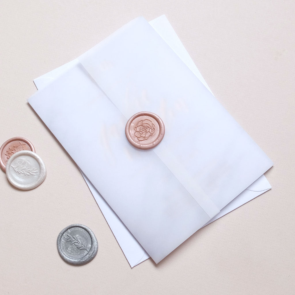 Wax Seal Marble Invite - The Luxe Collection Foil