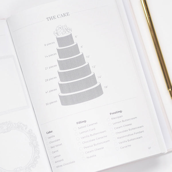 New! Light Grey + Rose Gold Foil Wedding planner book
