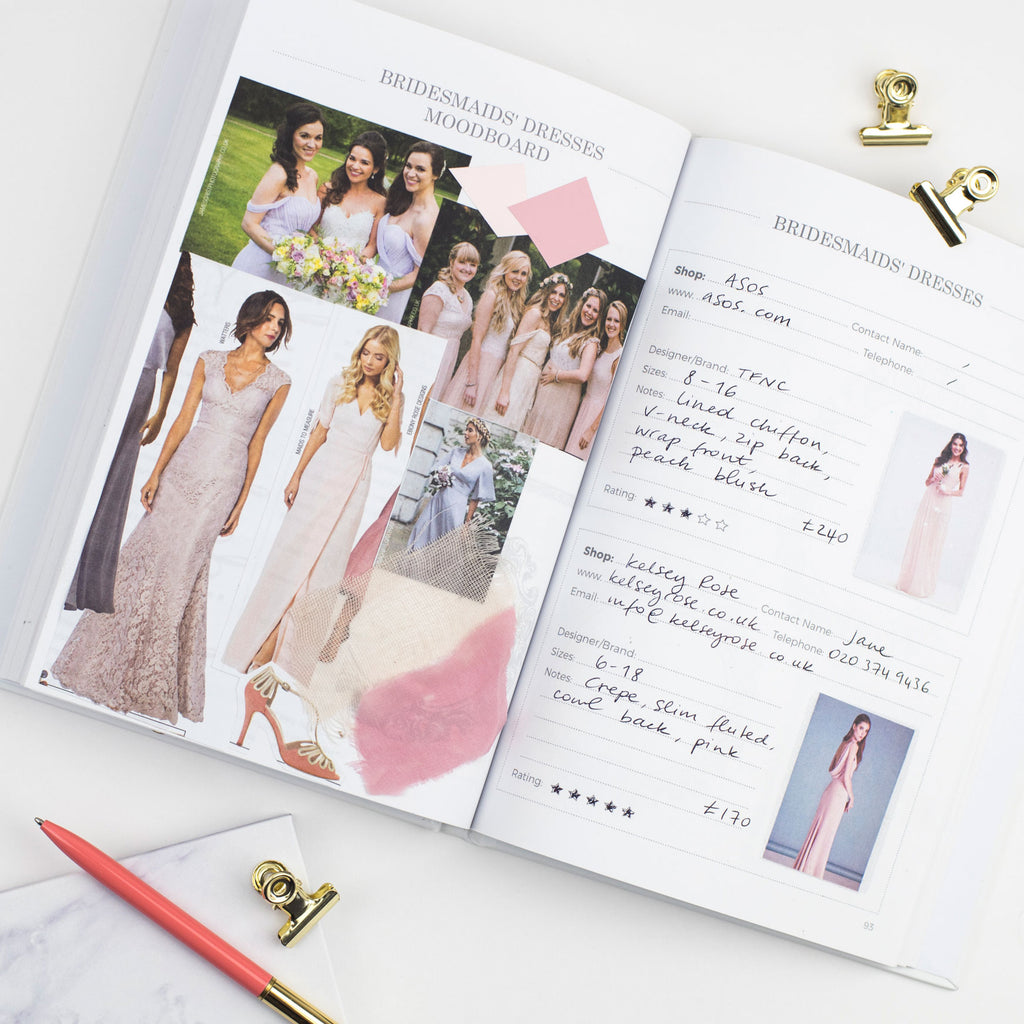 Luxury ombre wedding planner book blush and gold luxury ombre wedding planner book junglespirit Images