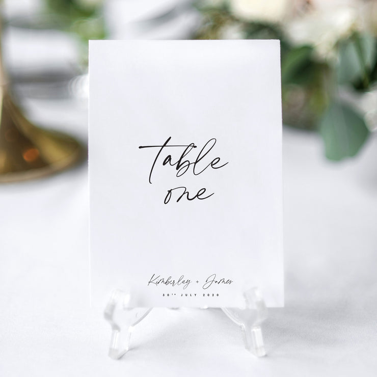 minimalist table number design