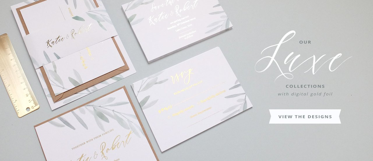 luxury wedding foil invites