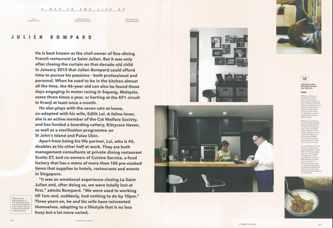 A Day in The Life of Chef Julien Bompard, Gourmet and Travel, The Peak Magazine