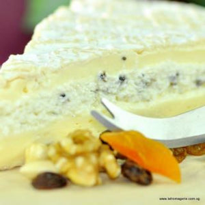 Truffle Brie (Brie aux Truffe Noire) - 300 gram (Handcrafted by Edith, the Cheese Master)