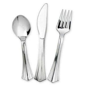 Disposable Forks, Spoons and Knives - Party Set (24 pieces per set)