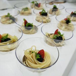 Canapé - Chilled Angel Hair Pasta with Avruga Caviar