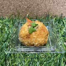 Load image into Gallery viewer, Canapé - Potato Cake with with Crab Meat Pommery Mustard (serve chilled or warm)