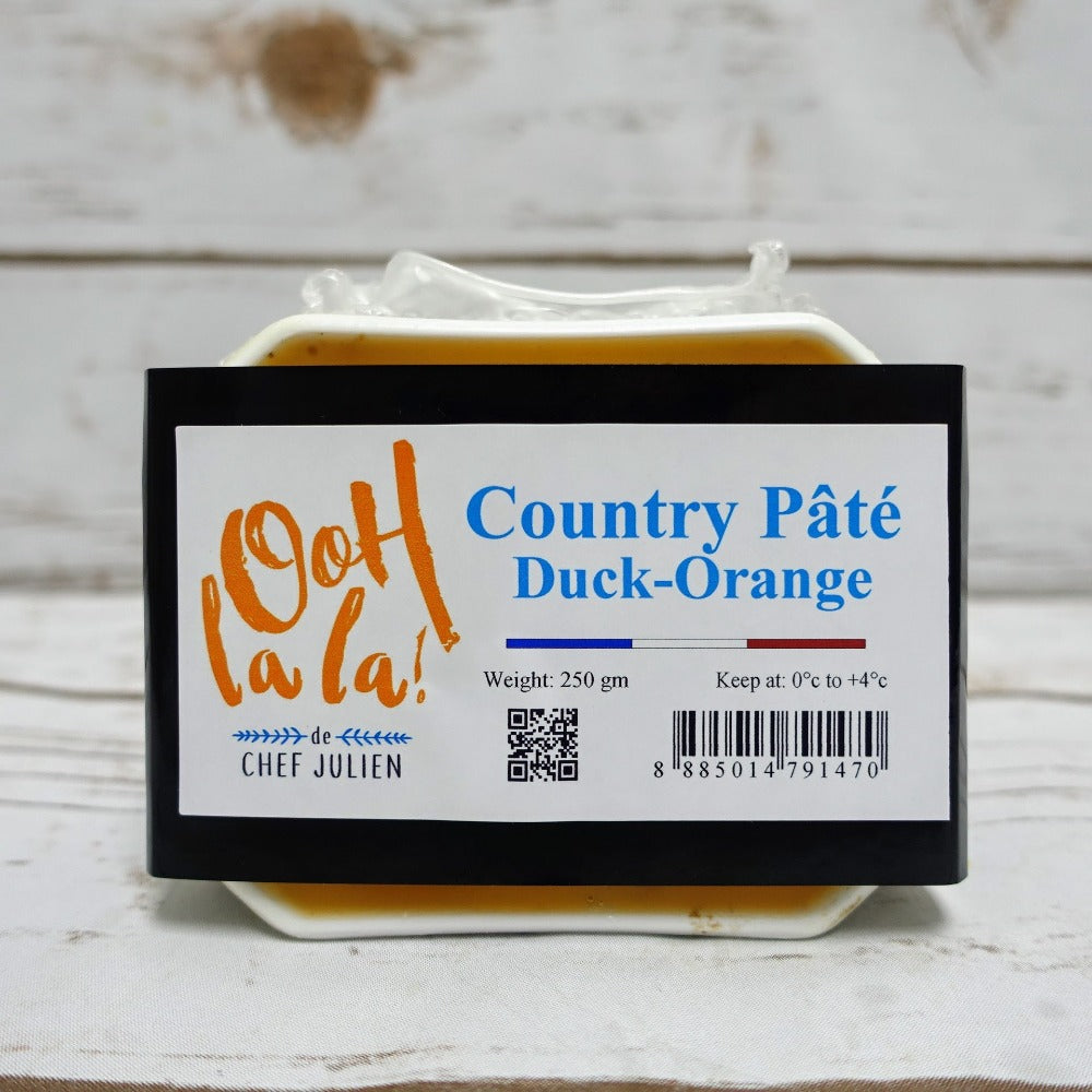 Country Pâté with Duck & Orange 250 grams, by Chef Julien Bompard