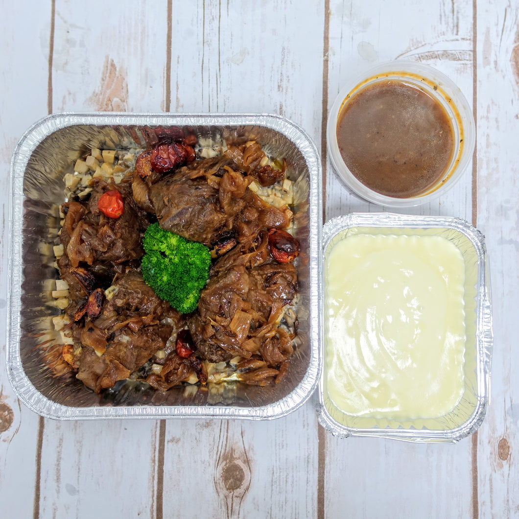 Braised Beef Cheek with Mushroom Medley (Deliver Hot) - Ideal for 2 persons
