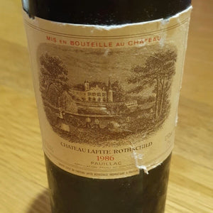 1986 Chateau Lafite Rothschild, France, 750 ml (minor torn labels)