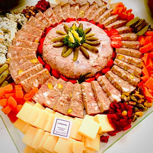 Load image into Gallery viewer, Mega Platter of Cheese & Charcuterie  (2 in 1) - 2 KG for Party up to 14 persons