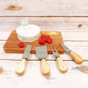 Mini Cheese Board with Cheese Tools Set