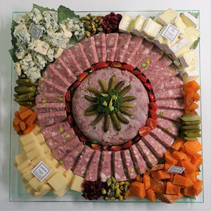 Mega Platter of Cheese & Charcuterie  (2 in 1) - 2 KG for Party up to 14 persons