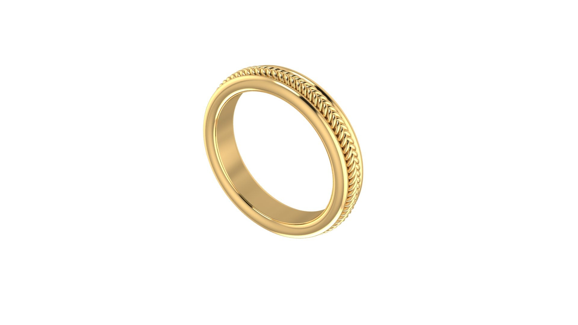 Braid Wedding Band - MANARI.eu
