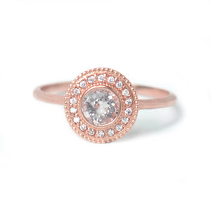 Malika Morganite Diamond Ring - Manari Design